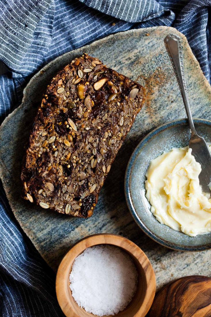 Delicious Cinnamon Raisin Seed and Nut loaf - crunchy, tasty and oh so good when warmed with butter. #MintyFreshLife #HealthySnacks