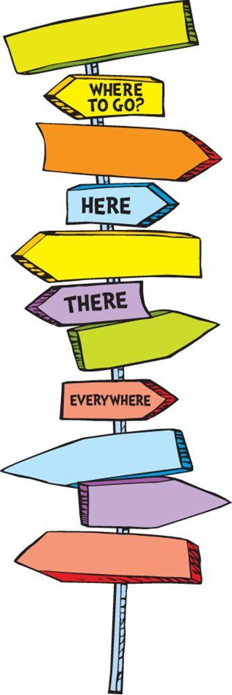 Dr. Seuss Blank Directional Signs Mini School Bulletin Boards | Eureka School