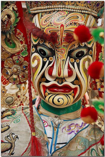 Guan Jian Shou,the eight generals,Taiwan,traditional face painting