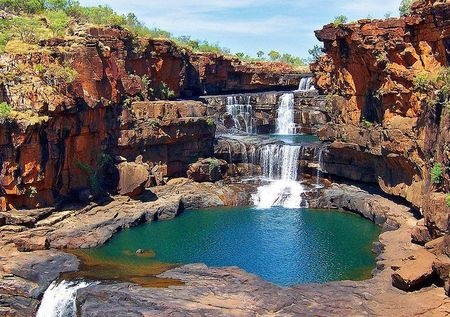 Mitchell Falls - The Kimberley - Western Australia | http://www.viewretreats.com/kimberley-north-west-wa-luxury-accommodation #travel