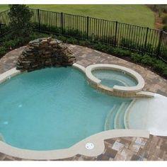 Mini Pools for Small Backyards | small backyard pool. I like it. We don't need an Olympic size pool ...