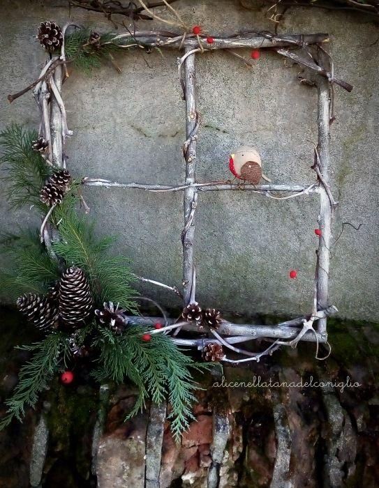 la Tana del Coniglio: ghirlanda invernale con pettirosso / winter wreath