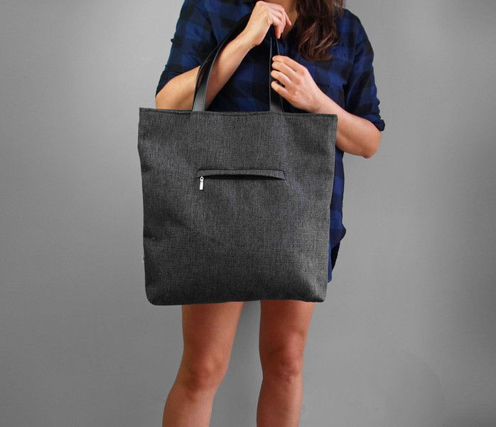 SHOPPER BAG 01 pojemna i pakowna torba na ramię - Torebki-Filcowe-Purol-Design - Torby na ramię