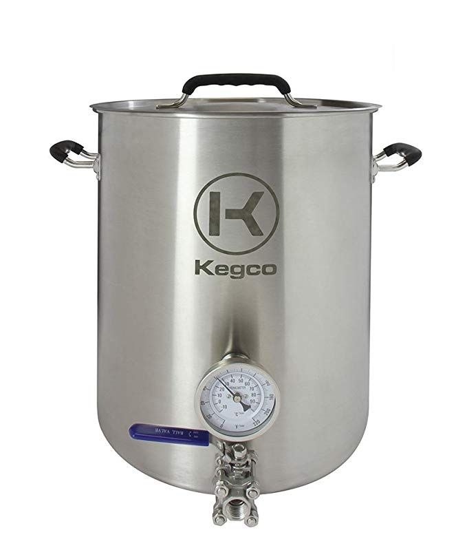 Kegco 8 Gallon Brew Kettle With Thermometer 3 Piece Ball Valve Review Home Brewing Beer Brewing Supplies Brewing