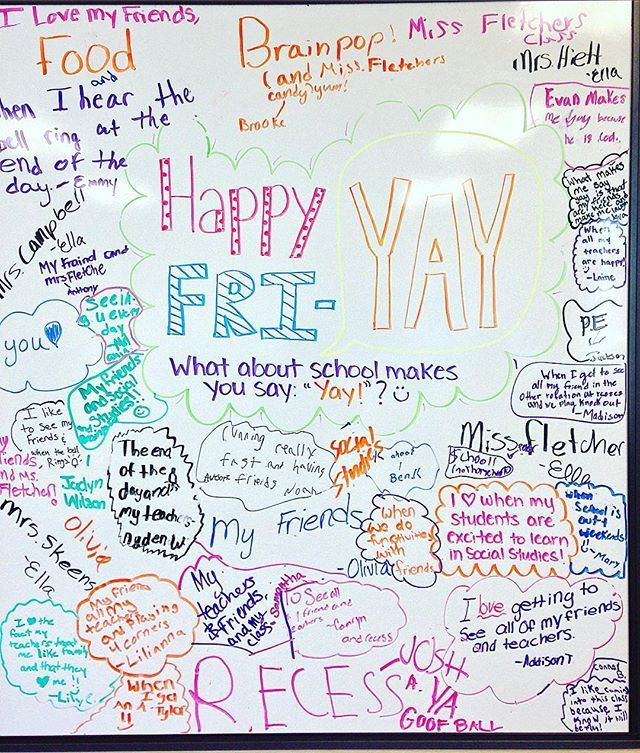 Happy Fri-YAY, y'all! This would be cute to make on a separate white board