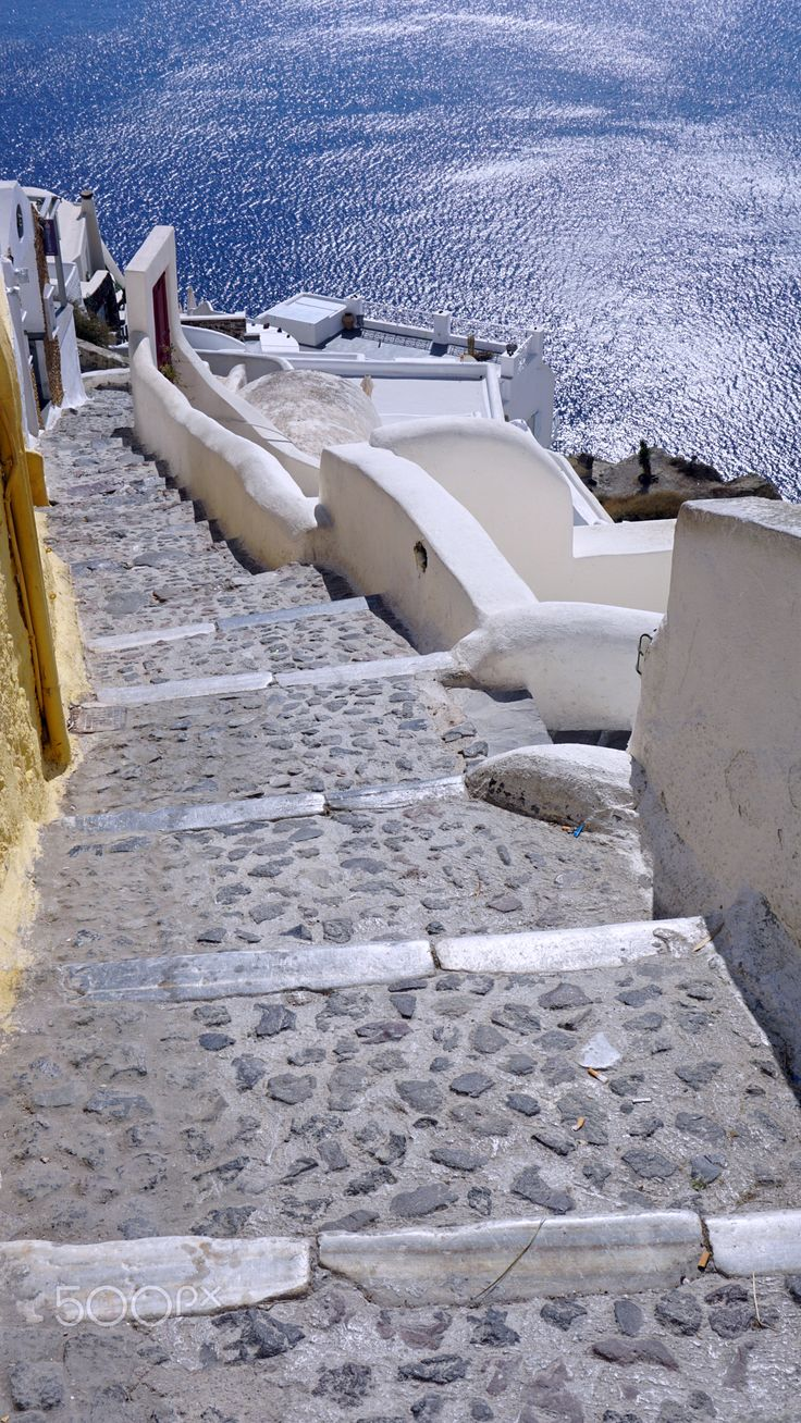 Caldera steps, Oia, Santorini, Greece