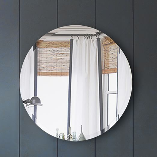 Frameless Round Wall Mirror | west elm