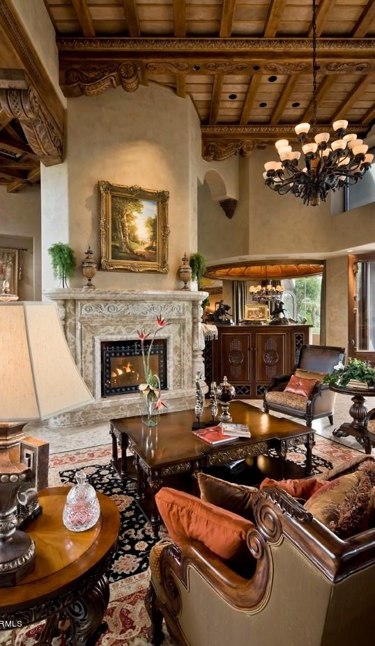 Old World Mediterranean Italian Spanish Tuscan Homes Decor The Millionairess Mansion In 2018 Home