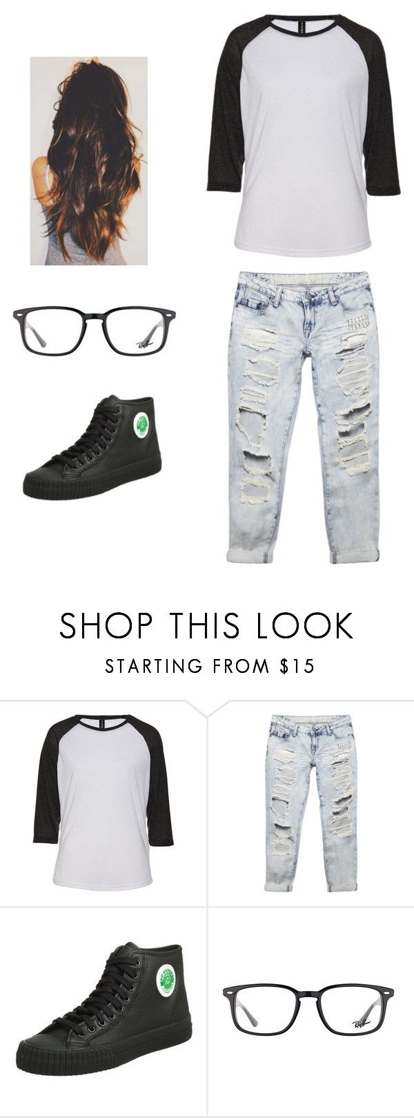"""""""Sandlot"""" by smollllbeannnn ❤ liked on Polyvore featuring Wet Seal, PF Flyers and Ray-Ban"""