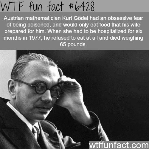 Austrian Mathematician Kurt Godel - WTF fun facts