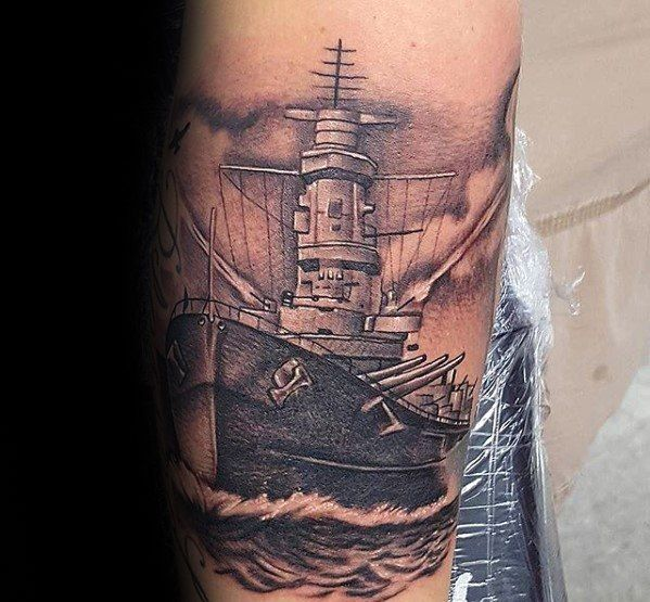 Male Cool Battleship Tattoo Ideas On Leg Tattoos Arm Tattoos For Guys Ed Hardy Tattoos