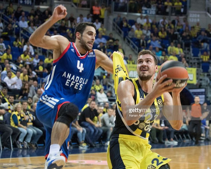 Marko Guduric, #23 of Fenerbahce Dogus Istanbul in action during the 2017/2018 Turkish Airlines EuroLeague Regular Season Round 3 game between Fenerbahce Dogus istanbul and Anadolu Efes istanbul at Ulker Sports and Event Hall on October 25, 2017 in Istanbul, Turkey.