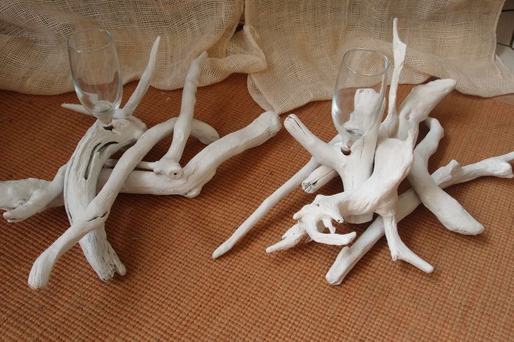 Wedding centerpieces driftwood.. βάση από θαλασσοξυλα (με ποτηρακι για κερι) για στολισμό και αρίθμηση τραπεζίων δεξίωσης γάμων..25χ45cm..