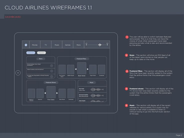 In Flight Entertainment Wireframes from http://bit.ly/1KCj9OHUXplore UX-UI Design inspiration gallery from the web - Editor Francesco Balducci