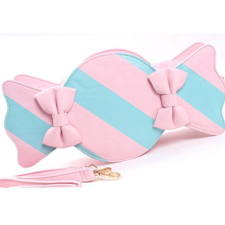 Japão meninas doces saco de embreagem de alta qualidade Pu de couro listrado doces em forma de arco mensageiro saco de ombro saco de mulheres XA1121A em Clutches de Bagagem & Bags no AliExpress.com | Alibaba Group