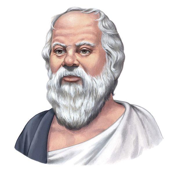 Sócrates de Atenas (en griego: Σωκράτης (Sōkrátēs); 470-399 a. C.) fue un filósofo clásico ateniense considerado como uno de los más grandes, tanto de la filosofía occidental como de la universal. Fue maestro de Platón, quien tuvo a Aristóteles como discípulo, siendo estos tres los representantes fundamentales de la filosofía de la Antigua Grecia. -26-