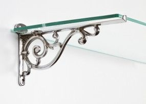 """Luciano"" Ornate Scroll Bracket (210mm) - Wall Brackets in Chrome, Brass and Iron - Shelf Brackets - Hardware - Catalogue 