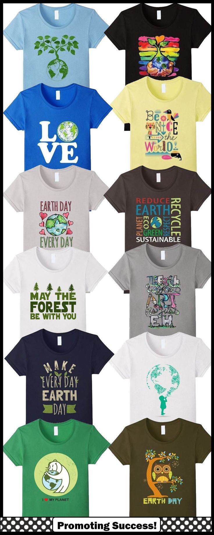 These Earth Day shirts would be so fun to wear in the classroom!   http://promotingsuccess.blogspot.com/2016/04/earth-day-resources-from-amazon.html