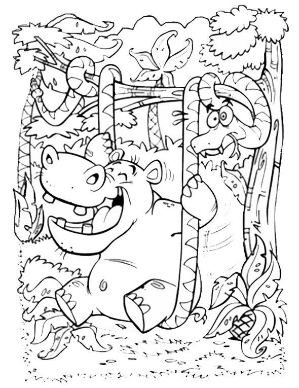 Ausmalbilder Dschungeltiere 05 Sonja Ausmalbilder Malvorlagen