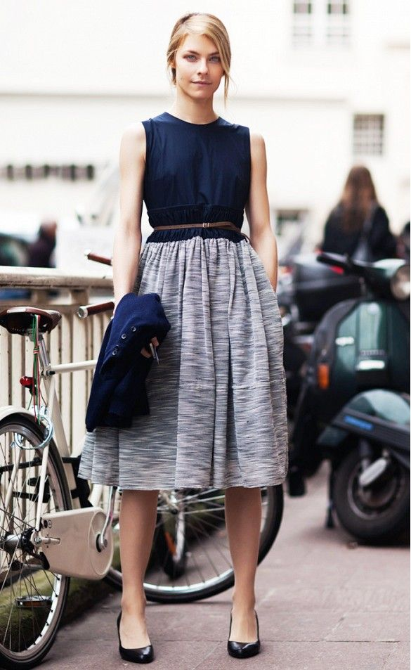 Dress that looks like separates--an effortless way to achieve chic.