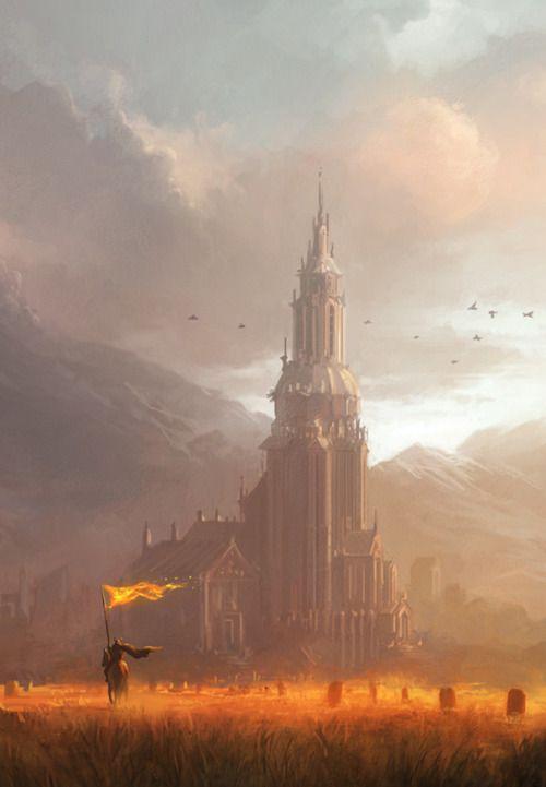 Fields of Gold by Andreas Rocha (Fantasy Art Watch)