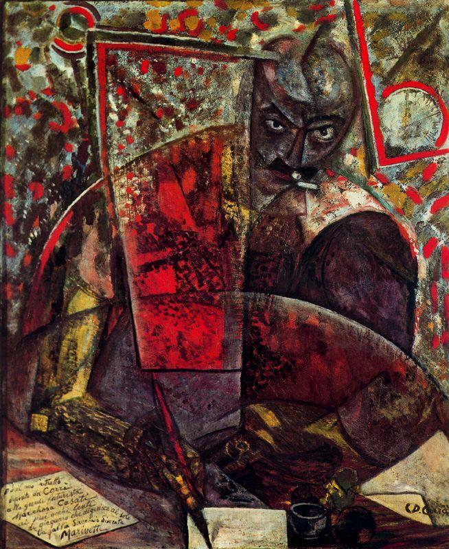 Retrato de Marinetti, 1912 by Carlo Carra (Italian 1881-1966)