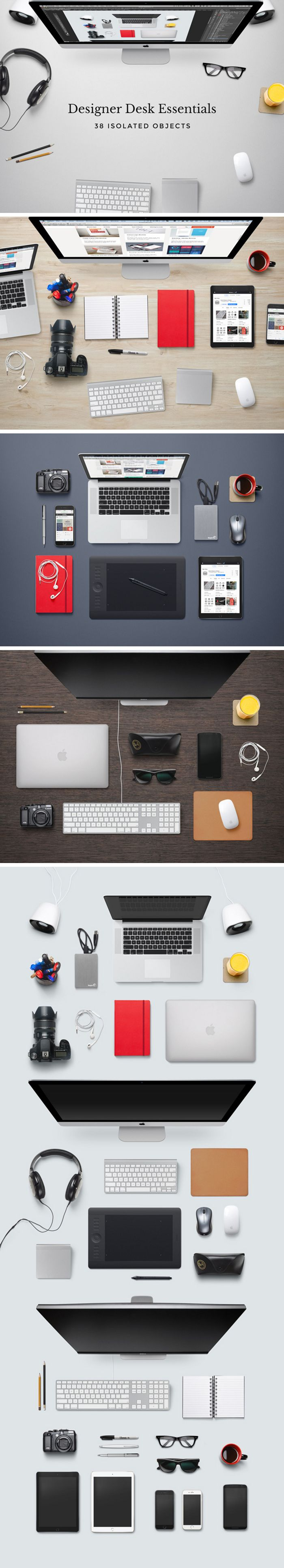 Free Designer Desk Essentials Mockup by GraphicBurger #mockup #heroimages