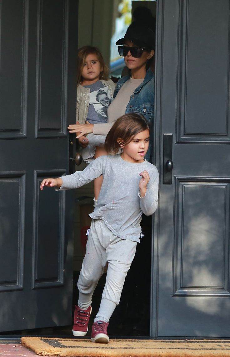 Mason Kardashian, Kourtney Kardashian out and about with daughter Penelope Disick and niece North West in Beverly Hills, California on December 13, 2015. Kourtney Kardashian and her kids Penelope and Mason leave a friend's house in Beverly Hills, California on December 13, 2015. FameFlynet, Inc - Beverly Hills, CA, USA - +1 (818) 307-4813