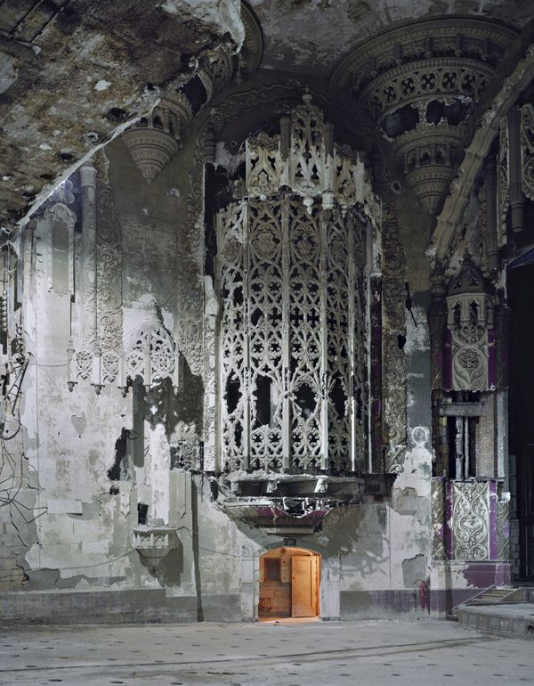 """Andrew Moore - from the series Detroit.  Amazing, amazing images of abandoned buildings in Detroit or as I saw it referred to: """"Urban Archaeology"""""""