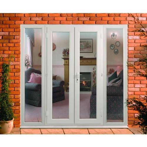 Large image of PVCu French Door with 2 Side Panels - opens in a new window