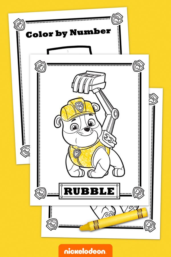 Is your preschooler a PAW Patrol fan? Have your kid color in this fun Rubble activity pack! This bulldozing Bulldog is one strong, eager and funny pup.