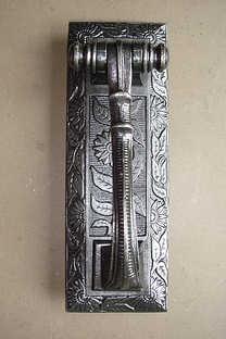 Victorian Cast Iron Door Knocker of 1872
