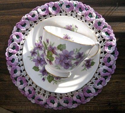 lilac teacup/saucer