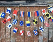 Guirlande de drapeaux nautiques, A-Z, petits drapeaux