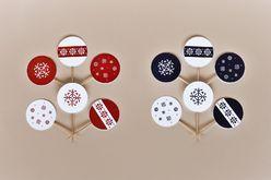 Zestaw dekoracji świątecznych - płatki śniegu