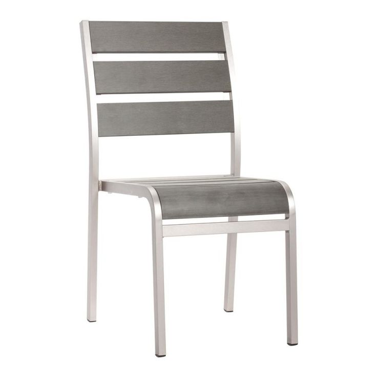 Brushed Aluminum Dining Armless Chair https://www.studio9furniture.com/outdoor/patio-chairs/township-dining-armless-chair  When its time to gather your friends and family for an occasion, this is one of the best outdoor patio chairs that will also give you enough space for everyone.