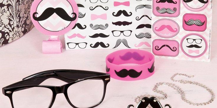 Alt. Image (3) - Pink Mustache Party in a Box