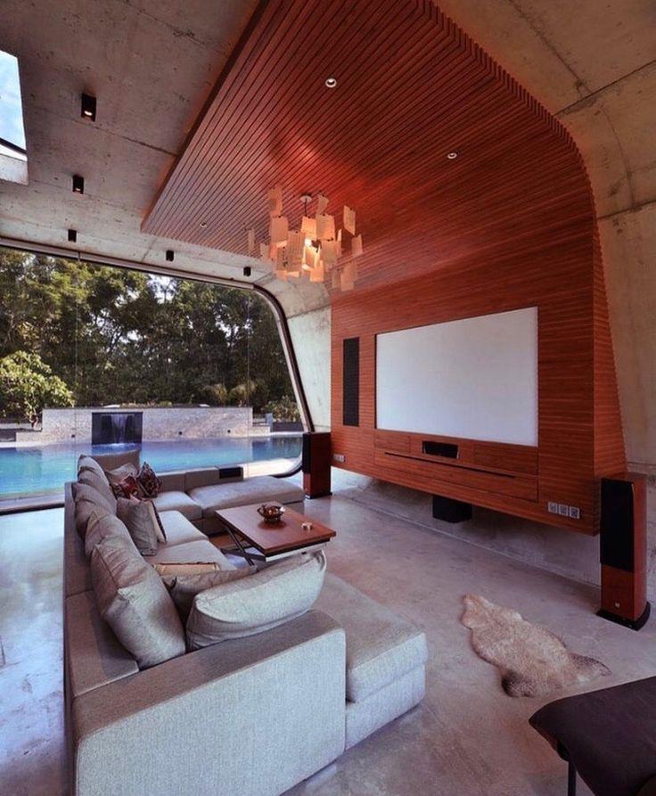 Architekturfoto, Pool Haus, Wohnungsbau, Ideen Zur Innenausstattung,  Innenarchitektur, Erstaunliche Häuser, Indoor Outdoor, Ps, Arquitetura