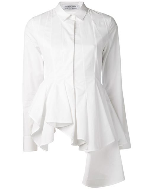 Shop Viktor & Rolf ruffle front blouse in Gaudenzi from the world's best independent boutiques at farfetch.com. Over 1000 designers from 60 boutiques in one website.
