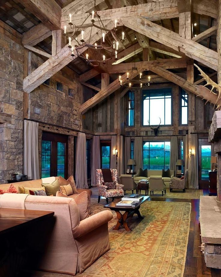 Timber frame home designed by Atelier One LTD of Jackson WY.