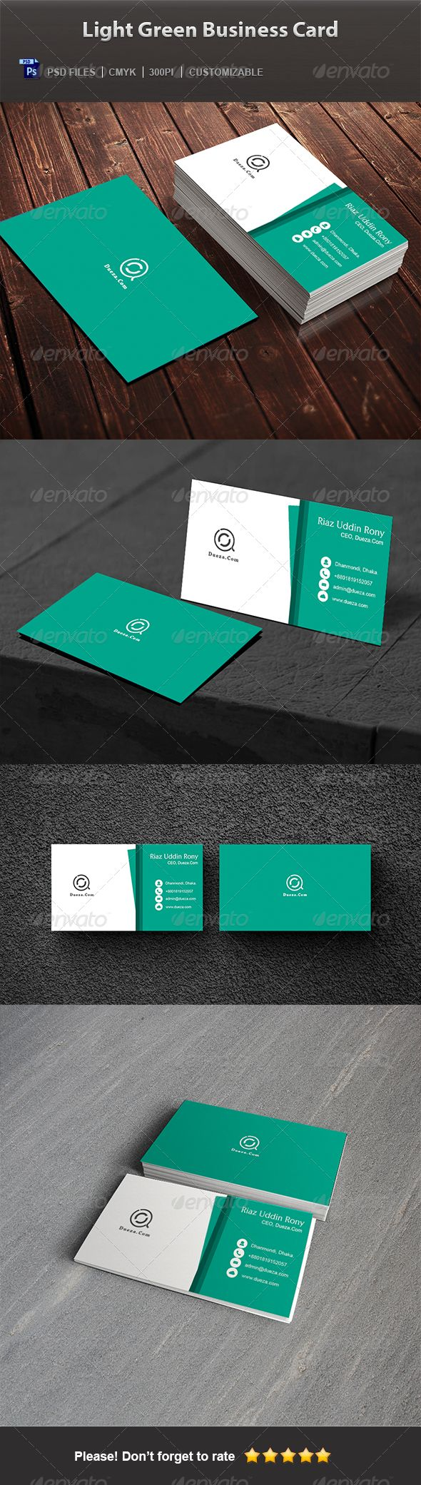 101 best 100+ Creative GREEN Business Cards for Your Inspiration ...