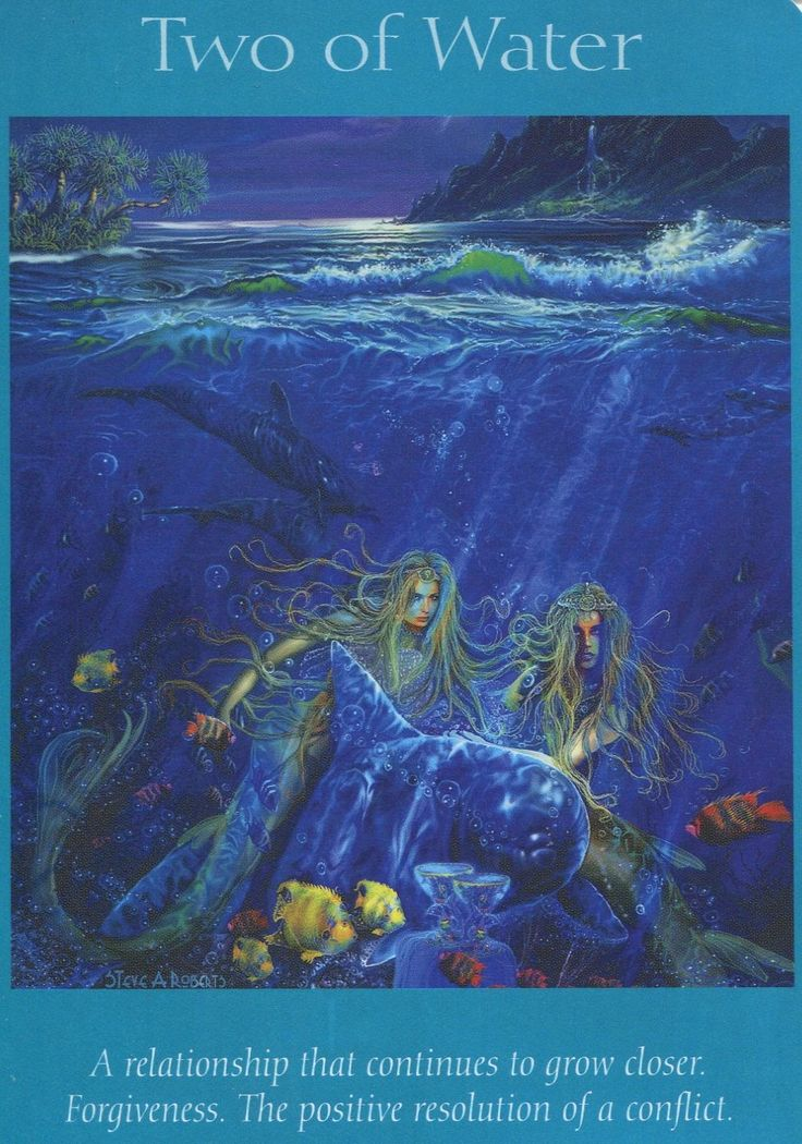 Angel Tarot Cards - Two Of Water