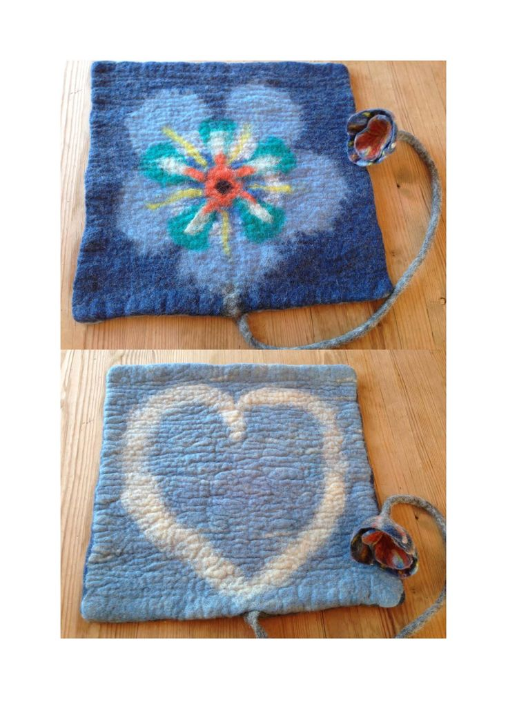 Wet felted Pad