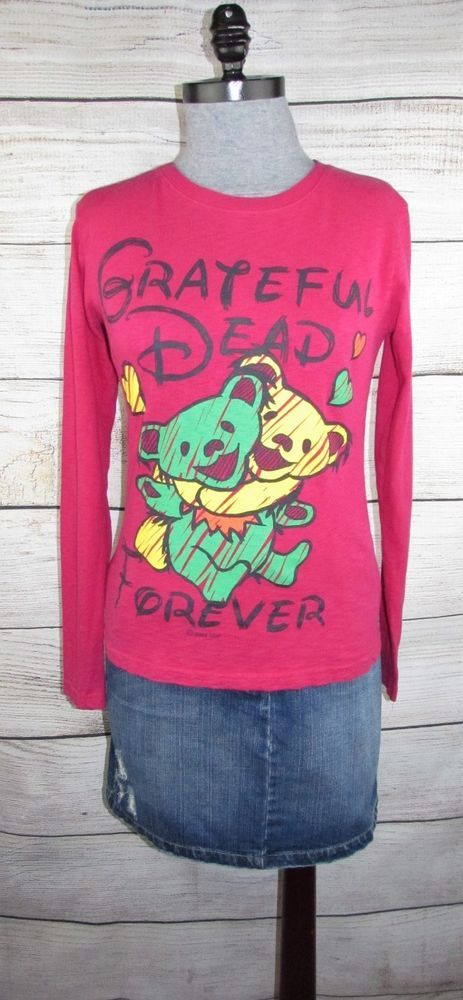 Details About Grateful Dead Womens Top M Medium Dancing Bears Long