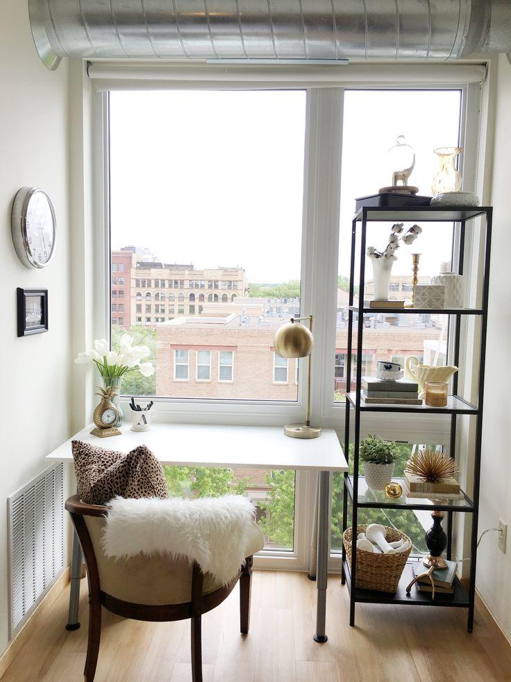 A Bright & Pretty Minneapolis Loft — House Call I love the use of he ikea VITTSJO shelving unit