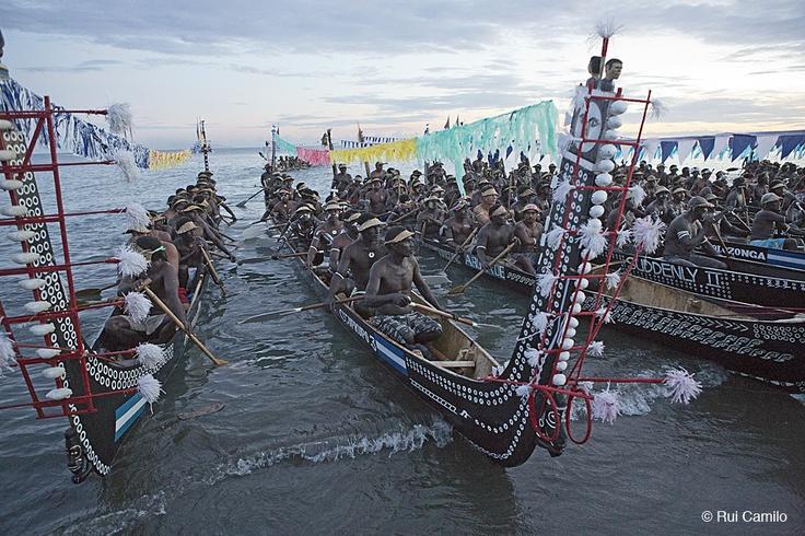 Solomon Islands Tomoko Canoes during Opening Ceremonies