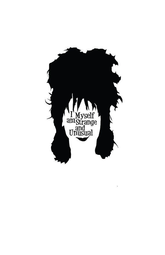 Lydia Deetz Beetlejuice Character Quote Poster // by TheGeekerie