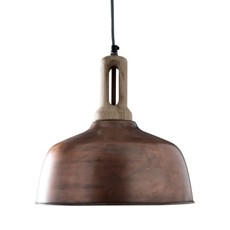 A modern farmhouse vibe radiates from this striking Newcastle Pendant. The shade is finished in gorgeous aged copper that delivers gravitas and a feeling of history. The reclaimed look is accented with...  Find the Newcastle Pendant in Copper, as seen in the La Boulangerie Collection at http://dotandbo.com/collections/la-boulangerie?utm_source=pinterest&utm_medium=organic&db_sku=102515