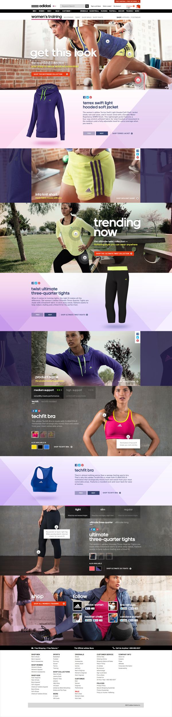 adidas Women's Training Experience by Ryan Mendes, via Behance