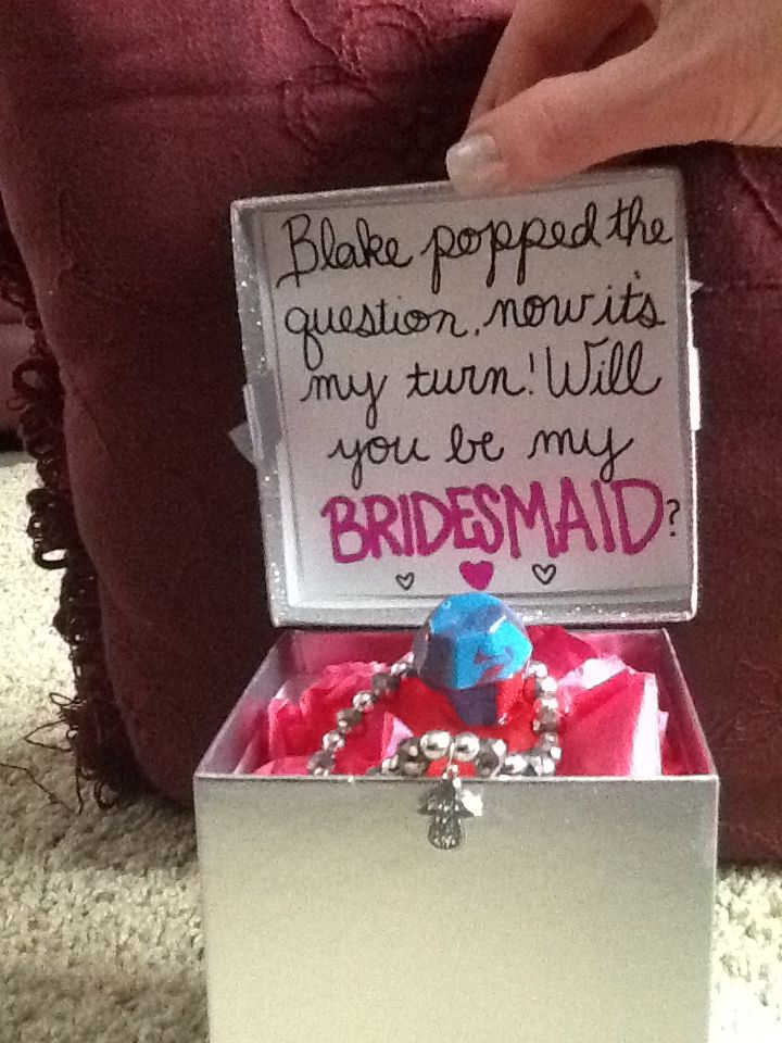 Ring Pop bridesmaid proposal